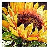 Kit Completo de Pintura de Diamante 5D con Diseño de Mosaico de Flores de sol Para Hacer punto de cruz Accesorios de arte de Diamantes de Imitación Para Manualidades Decoración del hogar 30 x 30 cm