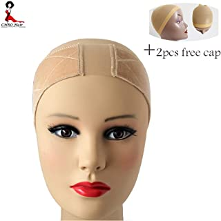 CNRO Lace Wig Grip Velvet Comfort Wig Band for Lace Wigs and Frontals, Adjustable Wig Comfort Band with Adjustable Hook and Loop Fastener Non Slip Breathable Thin Head Hair Band to Keep Wig (Nude)