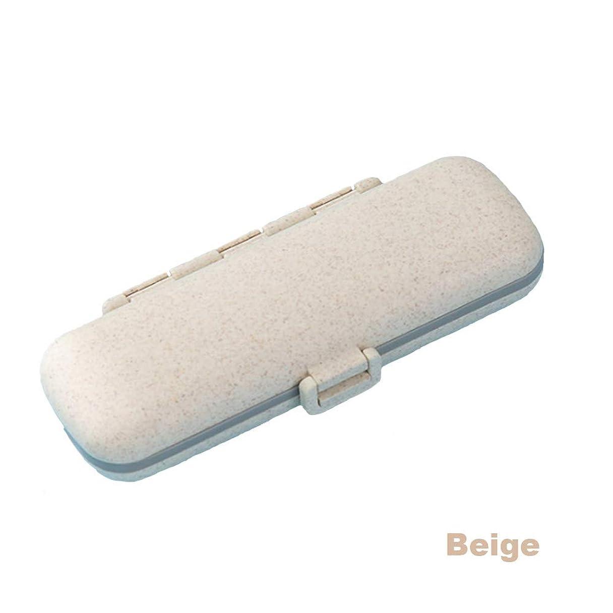 セイはさておき立派な急降下ポータブル小さなピルボックス一週間旅行ポータブルピルピル調剤ピルボックス食品グレード材料防湿アンチアッシュ便利なポータブル