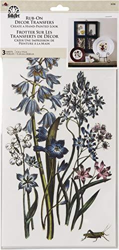 FolkArt 36106 Rub-On Décor Transfer, Botanical, 3 PC, 6' x 11.75'