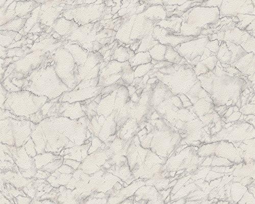 Daniel Hechter Vliestapete Tapete in Marmor Optik 10,05 m x 0,53 m grau weiß Made in Germany 305821 30582-1