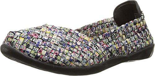 Bernie Mev Women's Braided Catwalk Splash Flats - 9.5 B(M) US