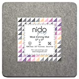 "17"" x 17"" Wool Ironing Mat - Authentic 100% New Zealand Wool Pressing Pad, Perfect for Quilting and More!"