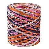 Lifreer - Cinta de papel de rafia multicolor de 200 m, cuerdas de papel de embalaje, cintas de regalo para envolver cajas de regalo, decoraciones de arte DIY