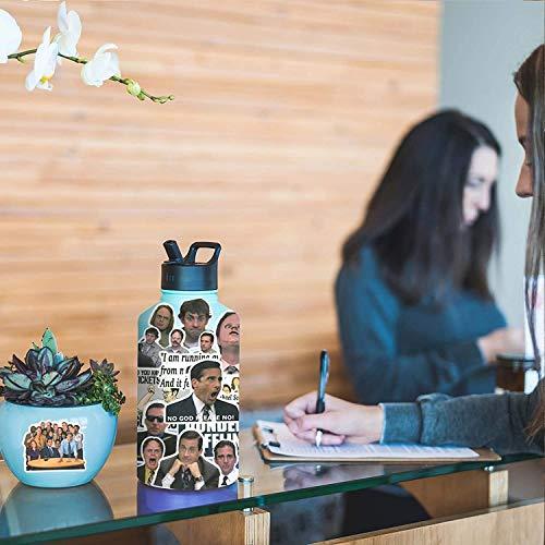 The Office Aufkleber 50 Stück Aufkleber - Die Büroaufkleber für Wasserflasche, Laptops, Computer, Flaschen, Notebook für Offiziere, Erwachsene