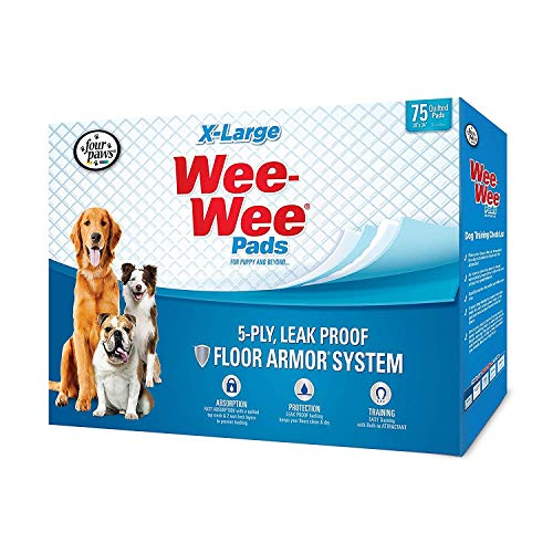 four paws wee wee pads xl 75 count
