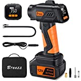 Breezz Cordless Tire Inflator, Portable Air Compressor with...
