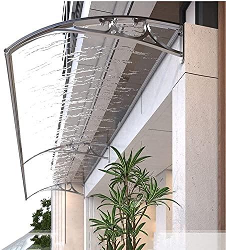 Marquesina para Puertas Ventanas Marquesina del porche Protección contra la nieve y la lluvia UV Cubierta del refugio contra la lluvia Marquesinas para techos Puerta delantera / trasera Toldo Refugio