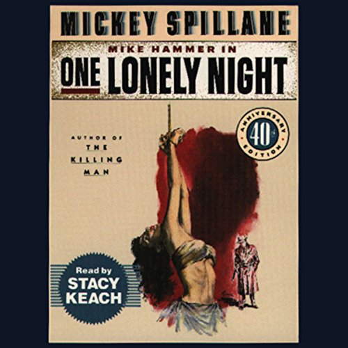 One Lonely Night audiobook cover art