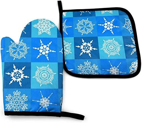 leyhjai Hintergrund Blau Dekoration Dekorative Frost EIS Überprüfen Sie Ihren Penis Naked Man Mit Vergrößerungsofen Mitt und Topflappen Set Hit