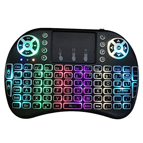 Wei & ye I8 Marquee Mini Keyboard Flying Squirrel es Adecuado para TVBOX 2.4G Teclado de Juegos inalámbricos, Control Remoto de Mano, luz de Fondo LED, computadora portátil, TV Inteligente