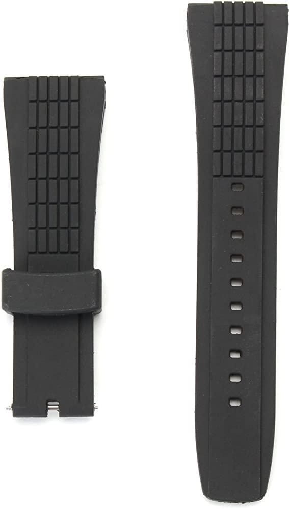 GGGarden 20-26mm Silicone Black Watch Band Strap for Seiko Velatura Watch Replaceable