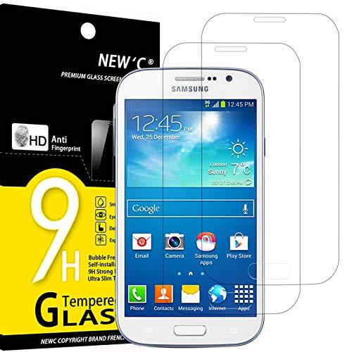 NEW'C 2 Pezzi, Vetro Temperato Compatibile con Samsung Galaxy Grand, Pellicola Prottetiva Anti Graffio, Anti-Impronte, Durezza 9H, 0,33mm Ultra Trasparente, Ultra Resistente