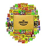 65 Count Mexican Candy Assortment Snacks - Variety of Spicy, Salty & Sour Candies - Individually Wrapped - Includes Luca Candy, Pulparindo & More - Great for Birthday Parties, Military Care Package