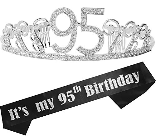 It's My 95th Birthday Tiara and Sash for Women