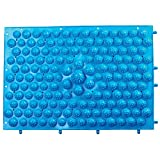 My Life My Shop Sole Relief Reflexology Lightweight Foot Massage Mat - Pressure Point Massager Bumps for Feet, Blue