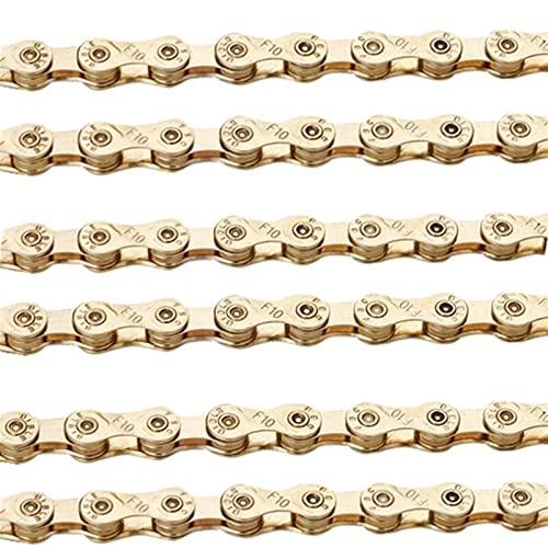 116 Enlaces MTB Mountain Bike Road Bicycle 6/7/8/9/10 Cadena de velocidad Gold...