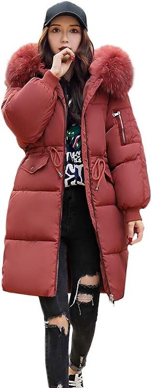 Women S Winter Windproof Warm Down Cotton Long Parka Hooded Coat Quilted Jacket Outwear