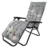 <span class='highlight'>Your</span>'s <span class='highlight'>Bath</span> Sun Lounger Cushion, Thick Pad Large Padded Only Replacement Bench Cushions Portable with Non-slip Cover for Holiday Relaxer Patio Garden Outdoor (1 pcs, Flowers on Grey)