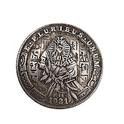 Hobo Coin Estado Unidos 1921 Moneda Conmemorativa Horus Antiguo Egipcio Mítico Patrón San Un Dólar Recuerdo Decoración Artesanía