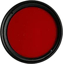 Balaweis 46mm Red Full Color Lens Filter for DSLR Camera Lens Accessory with 46MM Filter Thread