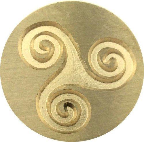 Triskele - Triple Spiral - Triskelion 1' Diameter Wax Seal Stamp by Seasons Creations
