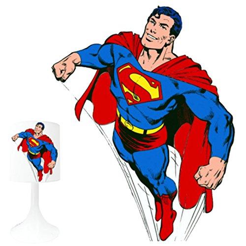 LAMPE DE CHEVET ENFANT SUPERMAN 2.MADE IN FRANCE