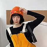 Versión Coreana del Sombrero Sombrero de Punto cálido Sombrero de Lana Sonriente de...