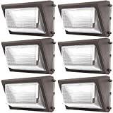 Sunco Lighting 6 Pack 80W LED Wall Pack, Daylight 5000K, 7600 LM, HID Replacement, Waterproof IP65, 120-277V, Bright Consistent Commercial Outdoor Security Lighting - ETL