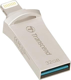 Transcend iPhone対応 USBメモリ(iPhone iPad iPod/Win Mac PC兼用:Apple MFi認証取得)32GB シルバー iPhone X対応 2年保証 TS32GJDG500S