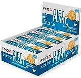PHD Nutrition Diet Plant - Barrita proteína, alta en proteínas con sabor a galleta blanca, snack vegano, bajo en carbohidratos y bajo en azúcares, 12 x 55g