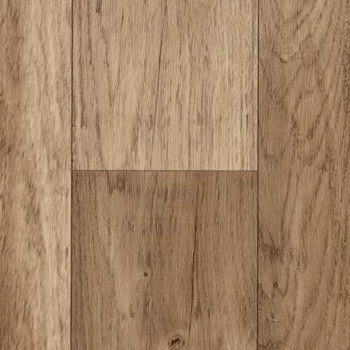 TAPETENSPEZI PVC Bodenbelag Landhausdiele Eiche | Vinylboden in 3m Breite & 4m Länge | Fußbodenheizung geeignet | Vinyl Planken strapazierfähig & pflegeleicht | Fußbodenbelag für Gewerbe/Wohnbereich