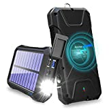 BLAVOR Solar Charger Power Bank 18W, QC 3.0 Portable Wireless Charger 10W/7.5W/5W