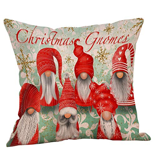 AMhomely Christmas Decorations Sale, Christmas Ornaments Faceless Doll Pillow Covers Santa Claus Pattern Pillowcase Merry Christmas Decorative Xmas Decor Ornaments Party Decor Gift
