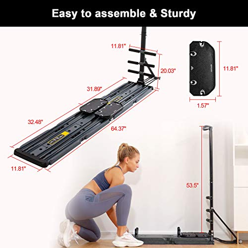 AVAH Portable Home Gym,Foldable Multi-Fit Bench Total Body Training Home Gym with Resistance Bands Bar and Push up Handles Muscle Exercise Equipment for Men/Women