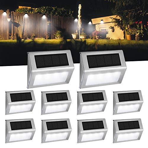 Luces Solares para Exterior Jardín 4LED Easternstar, Lámparas Solares impermeable IP44 Exterior,...