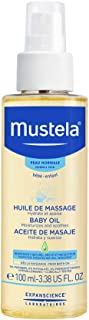 Mustela Baby Oil, Moisturizing Oil for Baby Massage, 3.38 oz