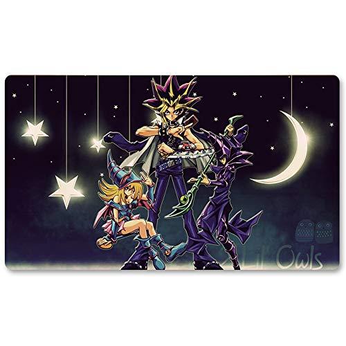 One Night Magic – Tapis de jeu Yu-Gi-Oh – Tapis de jeu de table de 60 x 35 cm Tapis de souris MTG pour Yu-Gi-Oh! Pokémon Magic The Gathering