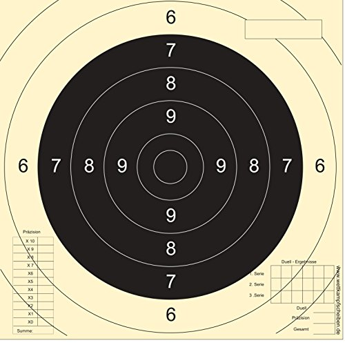 Druckteam Schleede & Partner Schießscheiben Sportpistole Präzision (Einsteckspiegel) (50 Stück)