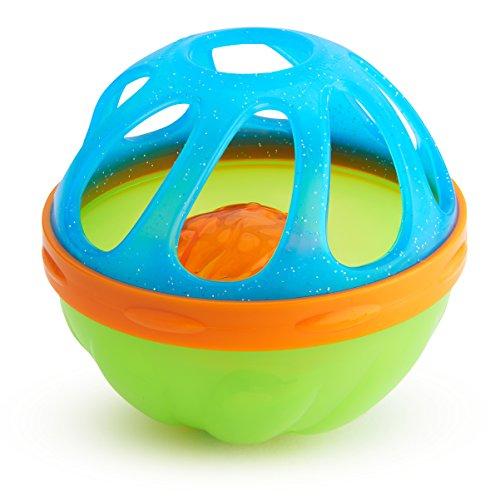 Munchkin Shake'n Strain Baby Bath Ball Bath Toy, Colors May Vary