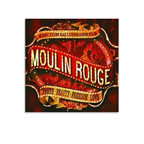 shenjin Moulin Rouge! Filmposter, Jukebox, Musik, romantisches Drama, 40 x 40 cm