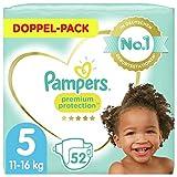 Pampers Baby Windeln Größe 5 (11-16kg) Premium Protection, 52 Stück, Pampers Weichster Komfort Und Schutz