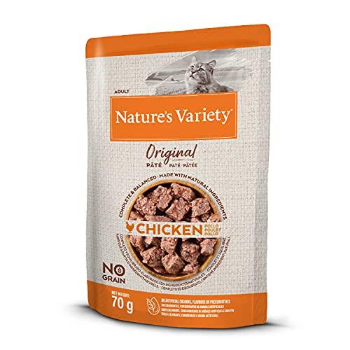 Nature's Variety Original No Grain - Paté para Gatos Adultos con Pollo - Caja 12 x 70 g