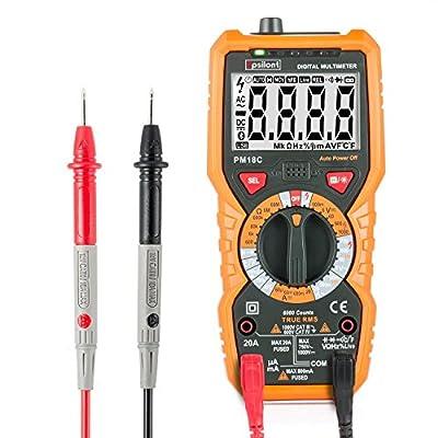 Digital Multimeter - Professional 6000 Counts True RMS 1000V AC DC 20A AC DC Multifunctional Digital Multimeter