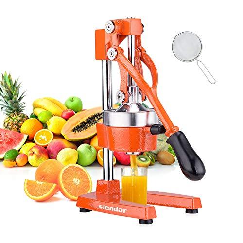 Slendor Commercial Citrus Juicer Manual Fruit Juicer and Orange Squeezer Metal...