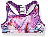 Soffe Girls' Big Dri Reversible Sports Bra, Space Paint/Epic Purple, Small