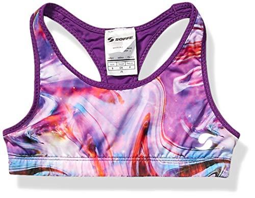 Soffe Girls' Big Dri Reversible Sports Bra, Space Paint/Epic Purple, Large