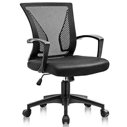 【法人割引あり】JH オフィスチェア デスクチェア 椅子 事務用椅子 人間工学 腰サポートバー 360度回転 昇降機能付き 腰サポートバー 通気性抜群 厚手 座面 メッシュ製チェア 安心的の耐久性 無償保証付き black 402AAA