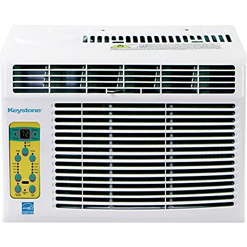 Keystone 8,000 BTU Window Mounted Air Conditioner | Follow Me LCD Remote Control | Energy Saver Sleep Mode | 24H Timer | Auto-Restart | AC for Rooms up to 350 Sq. Ft | KSTAW08BE, 13.400, White