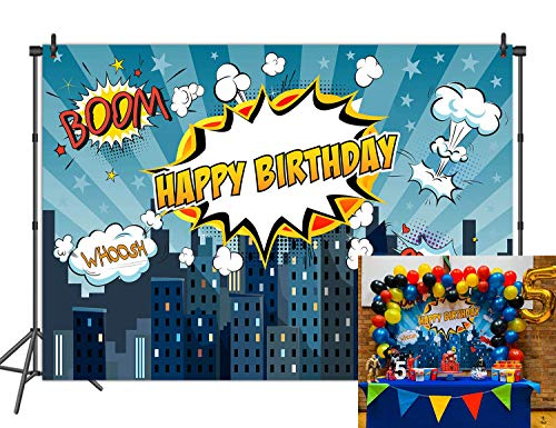 Daniu 7x5FT Superhero Backdrop for Photo Baby Shower Birthday Photography Background Super Hero Party Decorations Backdrops Fond Studio Props